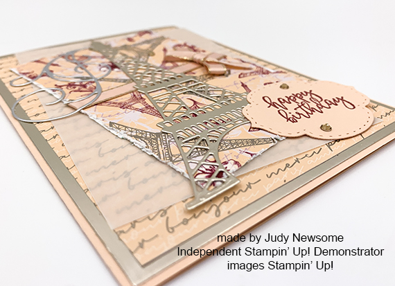 Stampin' Up! Parisian Blossoms Parisian Beauty Happy Birthday Card by Judy Newsome for Stamp Candy