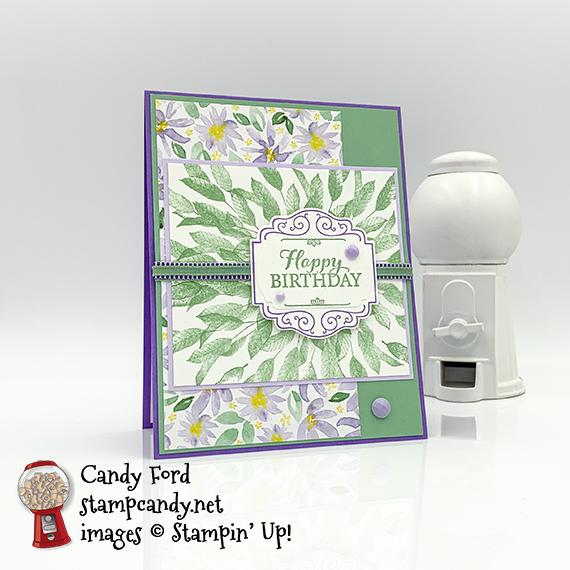 Stampin' Up! Layered With Kindness birthday card #stampcandy
