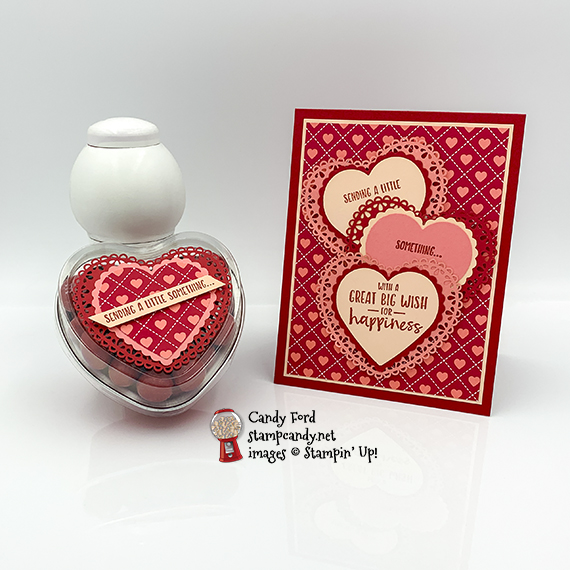 Sending You Thoughts card and Heart Tin for the ICS Blog Hop February 2020, Stampin' Up! #stampcandy