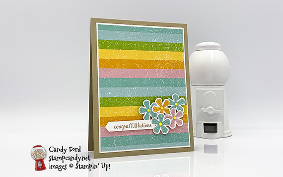 Thoughtful Blooms Pleased As Punch Congratulations Card