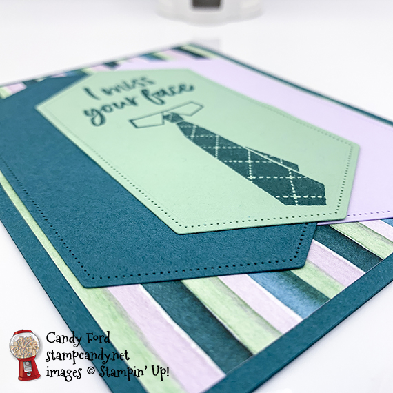 Stampin' Up! Tags in Bloom and Well Dressed stamp sets, Stitched Nested Label Dies, Best Dressed Designer Series Paper, card made by Candy Ford #stampcandy