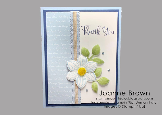Joanne Brown's cards and projects made using Stampin' Up! products for CHFB Challenge 02-2020