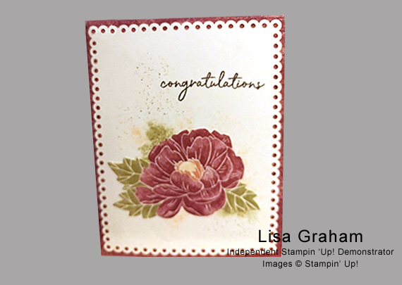 Lisa Graham's cards and projects made using Stampin' Up! products for CHFB Challenge 02-2020
