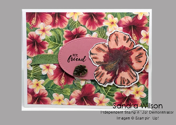 Sandra Wilson's cards and projects made using Stampin' Up! products for CHFB Challenge 02-2020