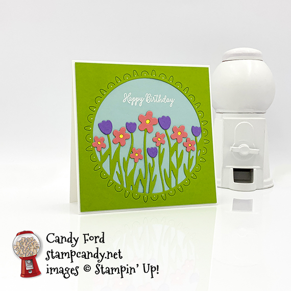 Stampin' Up! Special Someone stamp set, Sending Flowers Dies, happy birthday card made by Candy Ford for the Candy Hearts Spring Blog Hop March 2020 #stampcandy