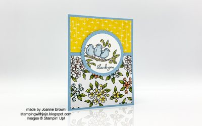 Bird Ballad Thank You Card by Joanne Brown