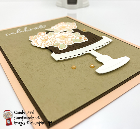 Stampin' Up! Happy Birthday To You stamp set, Birthday Dies, celebrate cake card made by Candy Ford #stampcandy