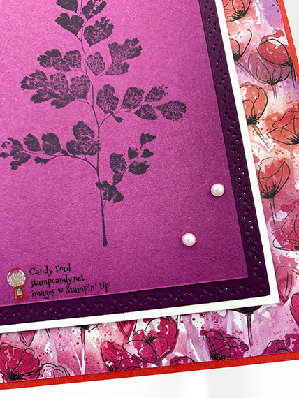 Stampin' Up! Positive Thoughts stamp set, Nature's Thoughts Dies, card made by Candy Ford #stampcandy