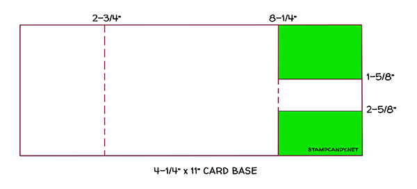 card base fun fold diagram #stampcandy