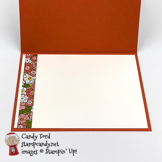 Stampin' Up! Ornate Garden Suite, thank you card by Candy Ford #stampcandy