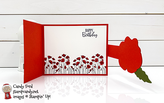 Stampin' Up! Peaceful Poppies, Peaceful Moments, Painted Poppies, Poppy Moments Dies happy birthday card, #stampcandy