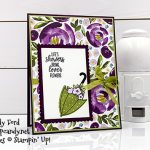 "Stampin"" Up! under My Umbrella bundle and stamp set, Umbrella Builder Punch, card made by Candy Ford #stampcandy"