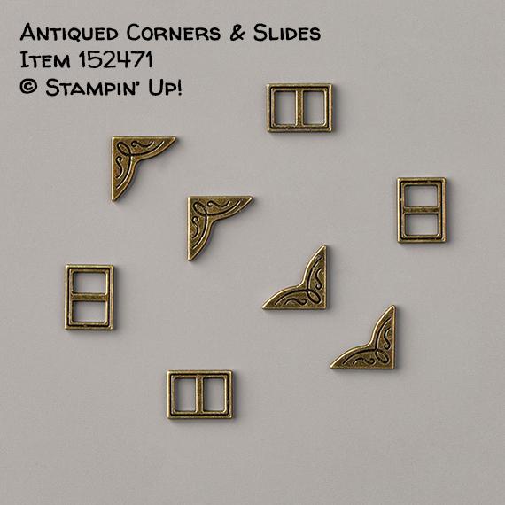 Antiqued Corners & Slides Item 152471 #stampcandy #stampinup