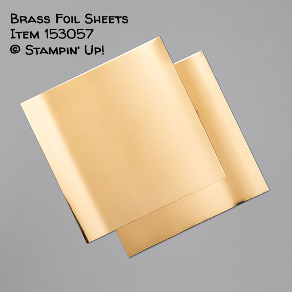 Brass Foil sheets Item 153057 #stampcandy #stampinup