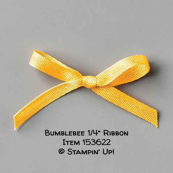 """Bumblebee 1/4"""" Ribbon Item 153622 #stampcandy #stampinup"""