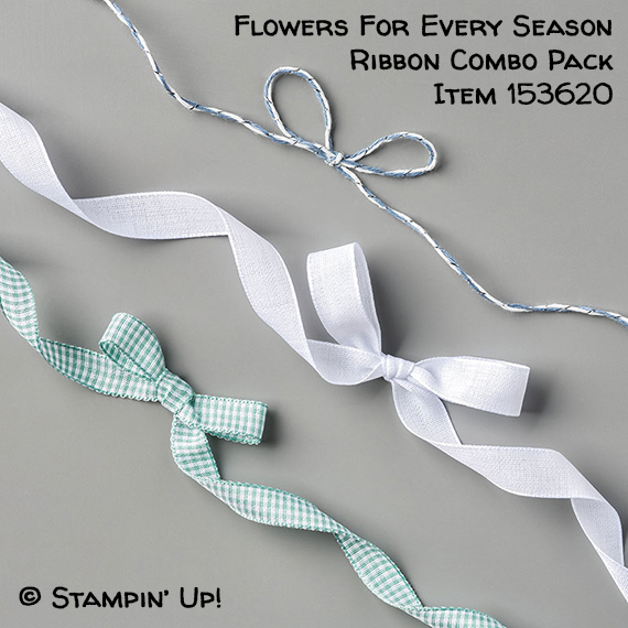 Flowers For Every Season Ribbon Combo Pack Item 153620 #stampcandy #stampinup