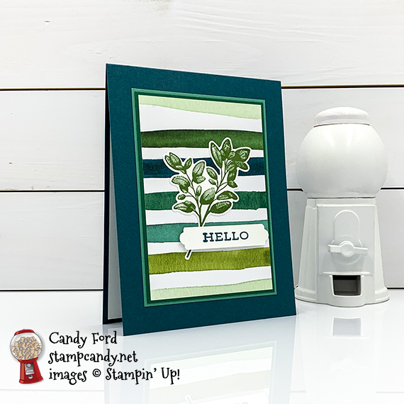 Forever Greenery Bundle, Forever Fern stamp set, Forever Flourishing Dies, Forever Greenery Designer Series Paper, Stampin' Up Candy Ford #stampcandy