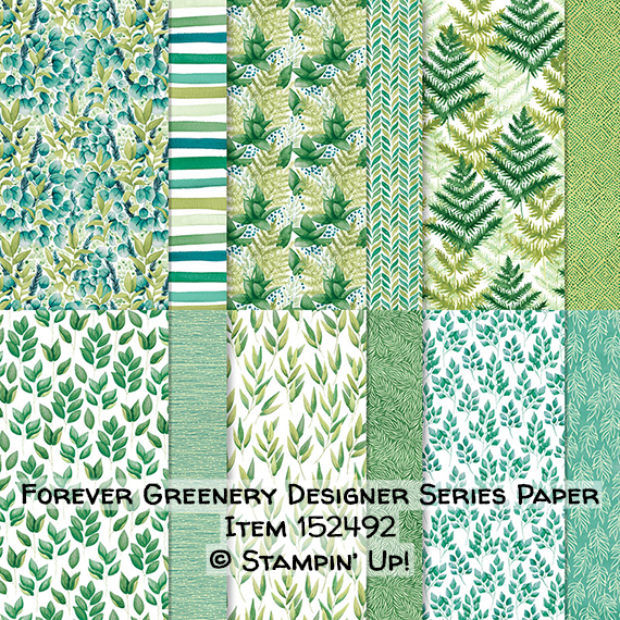 Forever Greenery Designer Series Paper Item 152492 #stampcandy #stampinup