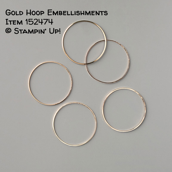 Gold Hoops Embellishments Item 152474 #stampcandy #stampinup