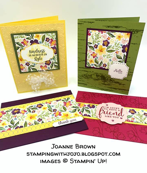made by Joanne Brown, Independent Stampin' Up! Demonstrator, for Candy Hearts Quarterly Challenge #stampcandy