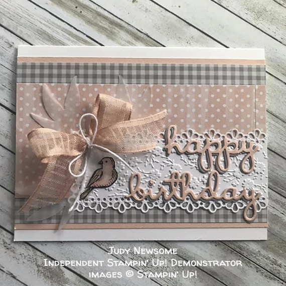 made by Judy Newsome, Independent Stampin' Up! Demonstrator, for Candy Hearts Quarterly Challenge #stampcandy