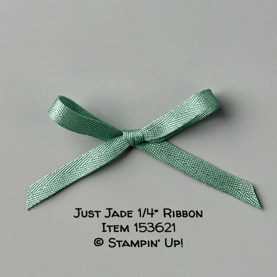 "Just Jade 1/4"" Ribbon Item 153621 #stampcandy #stampinup"