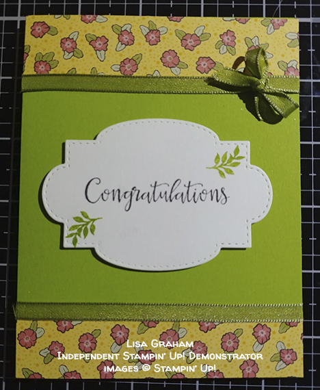 made by Lisa Graham, Independent Stampin' Up! Demonstrator, for Candy Hearts Quarterly Challenge #stampcandy