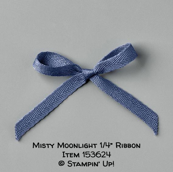 "Misty Moonlight 1/4"" Ribbon Item 153624 #stampcandy #stampinup"