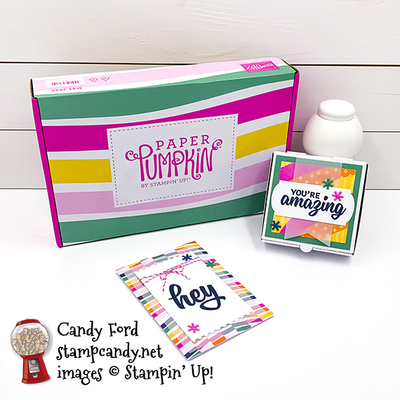 Stampin' Up! May 2020 Paper Pumpkin, A Kit In Color, APPT Blog Hop, Candy Ford #stampcandy