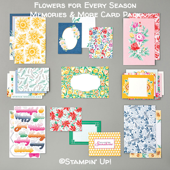 Flowers for Every Season Memories & More Card Pack © Stampin' Up!