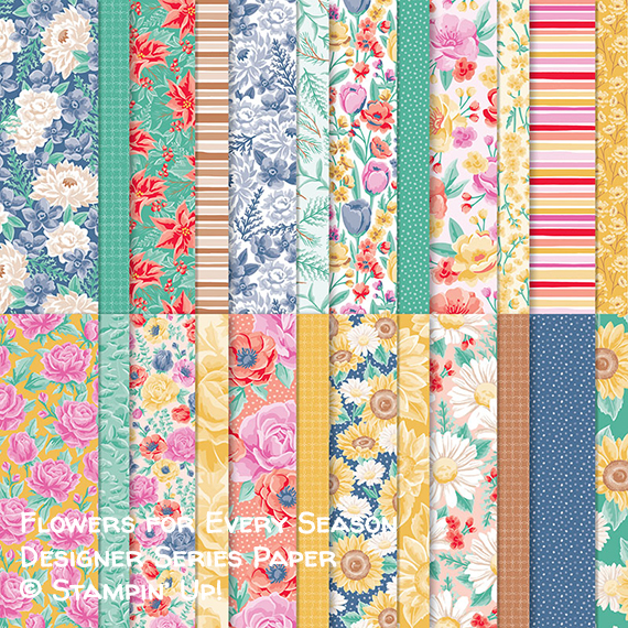 Flowers for Every Season Designer Series Paper © Stampin' Up!