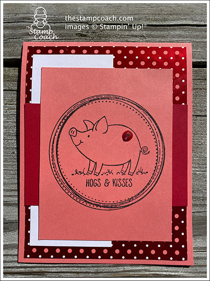 made by Linda Krueger, Independent Stampin' Up! Demonstrator, for Candy Hearts Quarterly Challenge #stampcandy #thestampcoach
