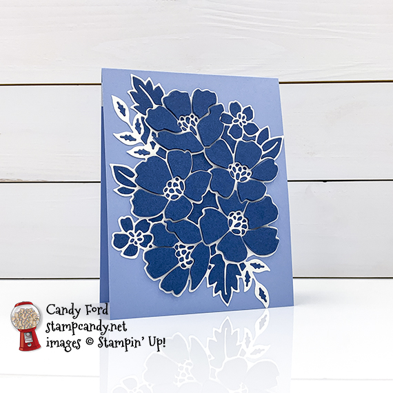 Stampin' Up! Blossoms in Bloom stamp set, Many Layered Blossoms Dies, get well soon card by Candy Ford #stampcandy