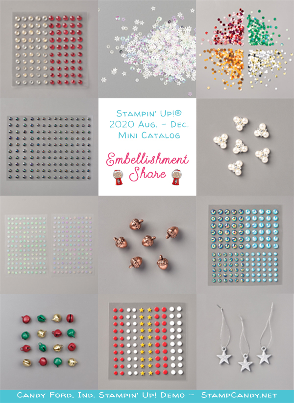 2020 August - December Mini Catalog Embellishment Share #stampcandy #stampinup