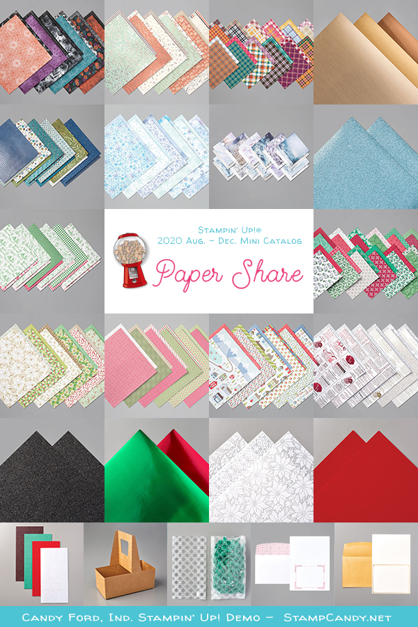 2020 August - December Mini Catalog Paper Share #stampcandy #stampinup