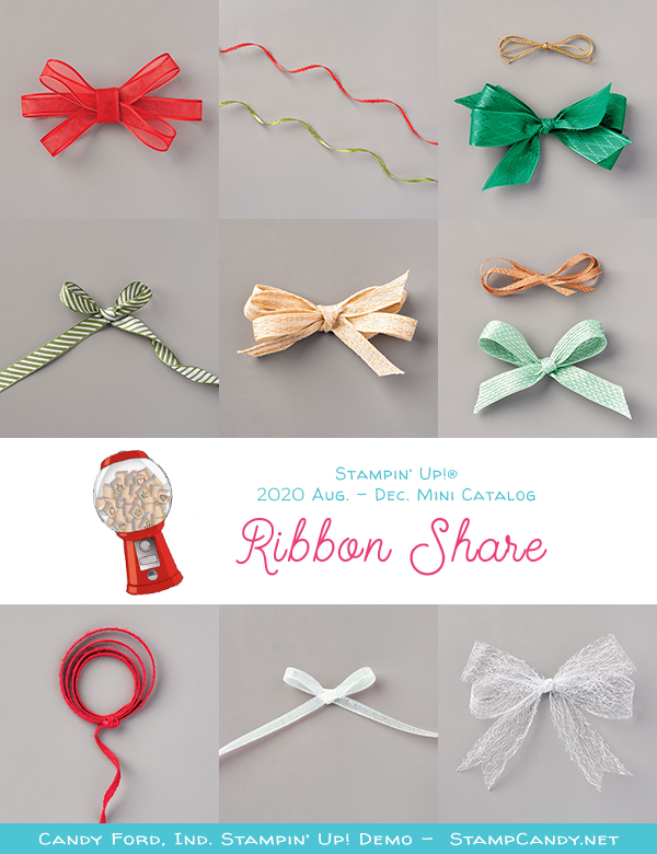 2020 August - December Mini Catalog Ribbon Share #stampcandy #stampinup