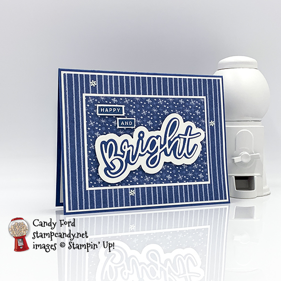 Peace & Joy bundle (Peace & Joy stamp set and Joy Dies) happy and bright winter holiday christmas card by Candy Ford #stampcandy #handmadecards #stampinup