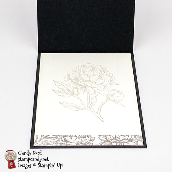 Prized Peony bundle, Peony Garden DSP, Dainty Diamonds embossing folder, pearls, love and thanks card, Candy Ford #stampcandy #stampinup #handmade cards