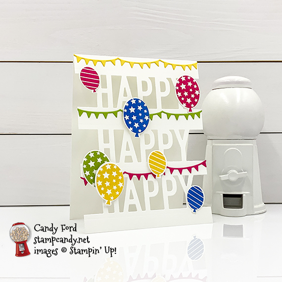 So Much Happy Bundle July 2020 ICSBH Happy card Candy Ford #stampcandy