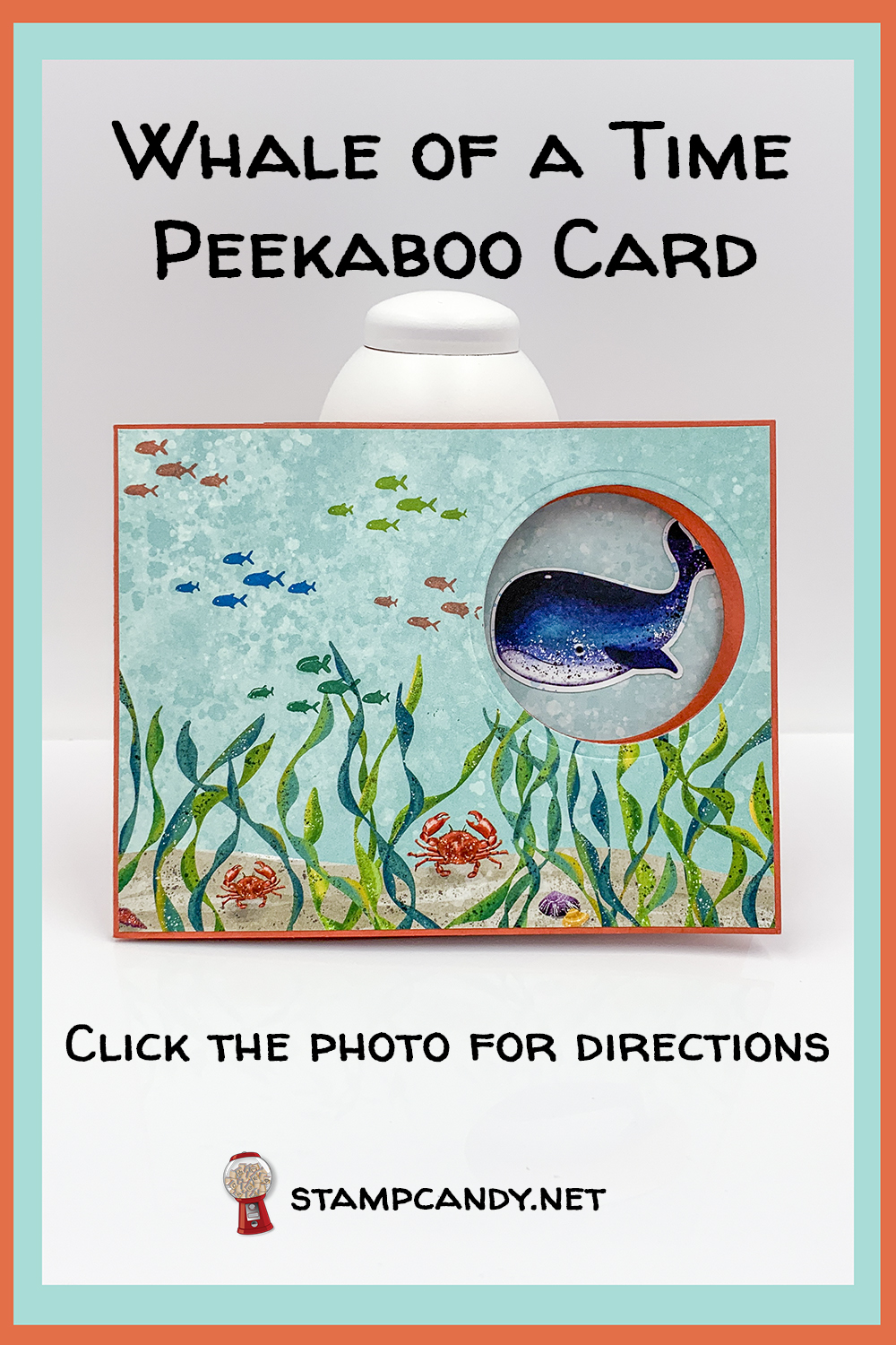 Whale Done Peekaboo Card