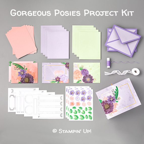 Gorgeous Posies Project Kit © Stampin' Up!