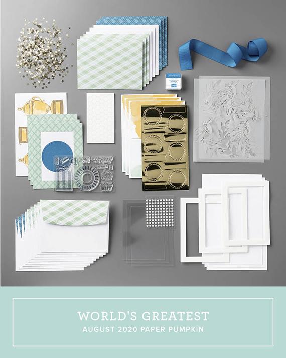 Paper Pumpkin August 2020 kit, World's Greatest #stampinup #paperpumpkin