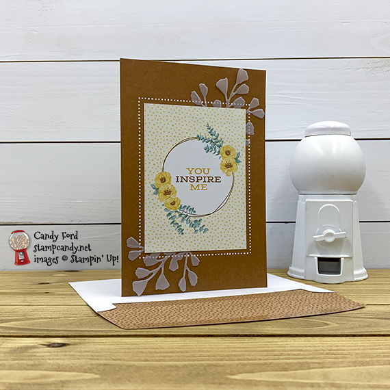 Flowers for Every Season Cards & Envelopes and Card Pack, Cinnamon Cider, Forever Flourishing Dies, Vellum card stock #stampcandy #handmadecards #stampinup #memoriesandmore