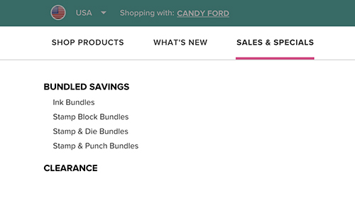 Stampin' Up! Online Store has a new look #stampcandy