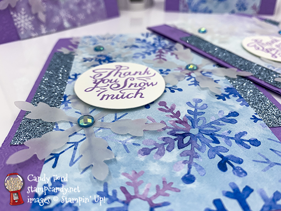 Snowflake Splendor Suite Collection, thank you cards #stampcandy #stampinup #handmadecards #thankyou #thankyoucards