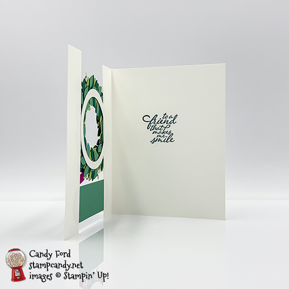 Forever Fern stamp set, Ornate Frames dies, Wreath Builder dies, You can do this card $stampcandy #handmadecards #stampinup #wreath