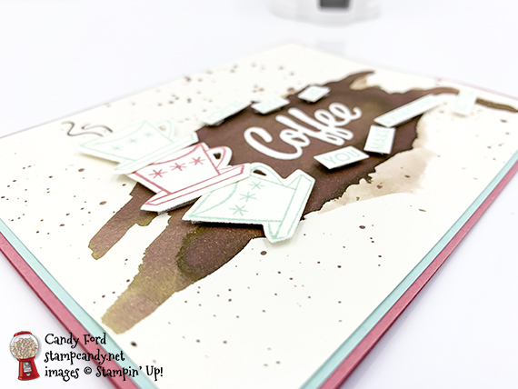 You're just like coffee. You make everything better. Card made by Candy Ford #stampcandy using Wreath Builder Dies, Ornate Frames Dies, Layering Circle Dies, Forever Fern stamp set by #stampinup #handmadecards