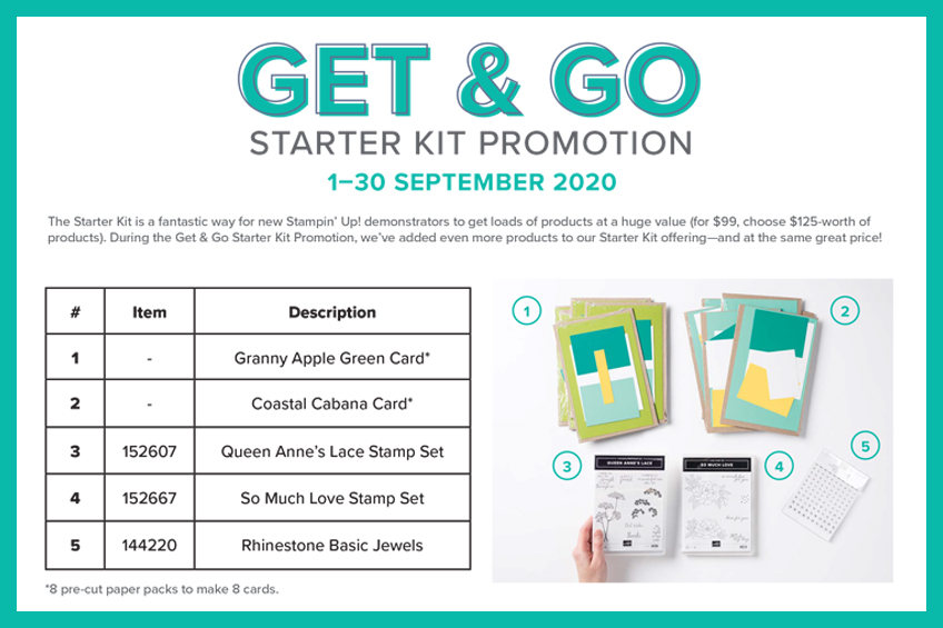 Get & Go Starter Kit Promotion, September 1-30, 2020 #stampinup #stampcandy #bestdecisionever