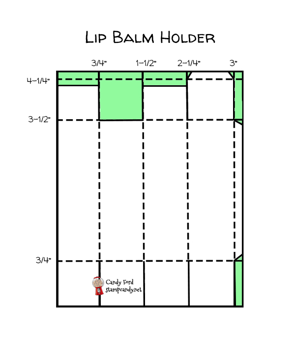 Lip Balm Holder #stampcandy #stampinup
