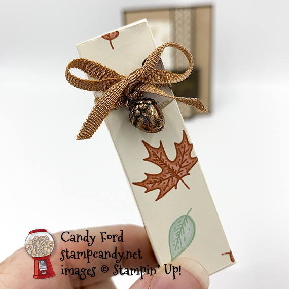 Gilded Autumn Lip Balm Holder, Acorn Trinkets #stampcandy #stampinup